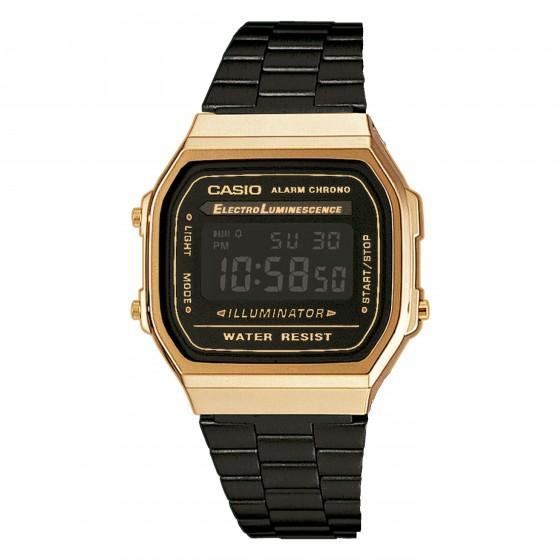 CASIO A168WEGB-1BEF GOLD BLACK