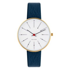 ARNE JACOBSEN BANKERS 34MM BLUE / GOLD