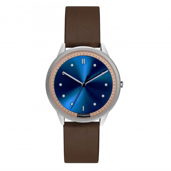 HYPERGRAND 02NATO SILVER BLUE CLASSIC BROWN