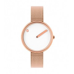 PICTO 30 MM ROSE GOLD / WHITE