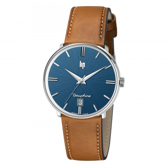 LIP DAUPHINE SILVER LEATHER 38MM