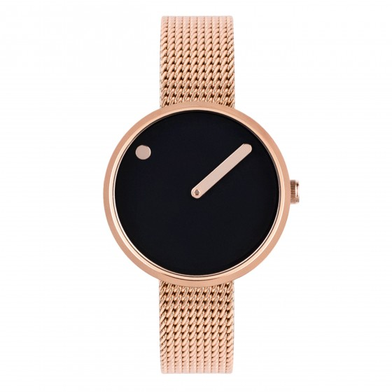 PICTO 30 MM BLACK/POLISHED ROSE GOLD