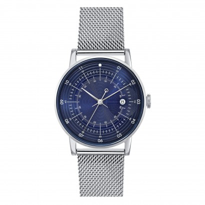 SQUARESTREET PLANO SILVER MILANESE SQ38-PS-72