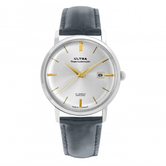 ULTRA SUPERAUTOMATIC SILVER + GOLD SILVER SUNRAY GRAY LEATHER