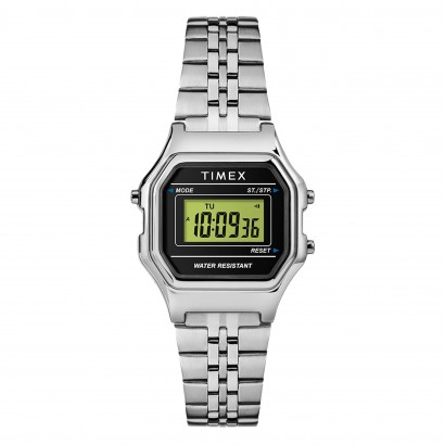 TIMEX DIGITAL MINI TW2T486 SILVER BLACK