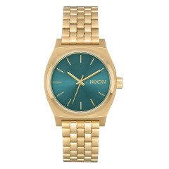 NIXON MEDIUM TIME TELLER LIGHT GOLD / TURQUOISE