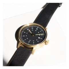VOID WATCHES DATE V03D-GO/BL/BL GOLD BLACK