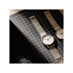 VOID WATCHES DATE V03D-BR/MR/WH SILVER MESH