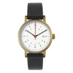 VOID WATCHES DATE V03D-GO/BL/WH GOLD WHITE BLACK