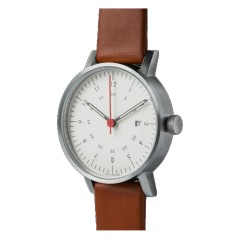 VOID WATCHES DATE V03D-BR/LB/WH SILVER WHITE BROWN