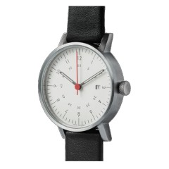 VOID WATCHES DATE V03D-BR/BL/WH SILVER WHITE BLACK