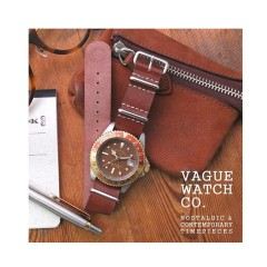 VAGUE WATCH BRWN GMT NYLON / LEATHER
