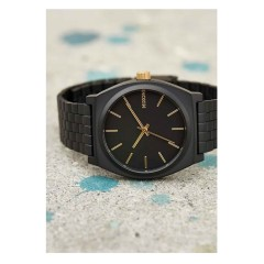 NIXON THE TIME TELLER MATT BLACK GOLD