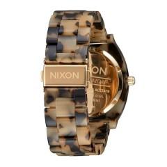 NIXON THE TIME TELLER ACETATE TORTOISE GOLD