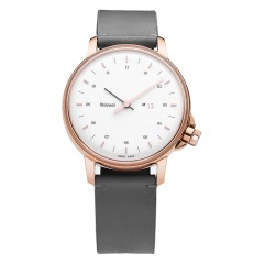 MIANSAI M12 SWISS ROSE GOLD WHITE STEEL LEATHER
