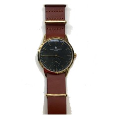 SMART TURNOUT SIGNATURE WATCH GOLD BROWN LTHR STRAP