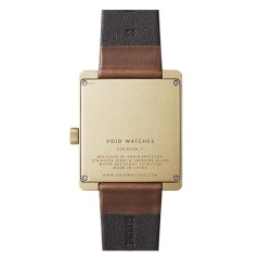VOID WATCHES V02MKII GOLD / BROWN