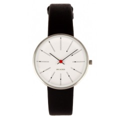ARNE JACOBSEN BANKERS 34MM BLACK / SILVER