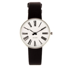 ARNE JACOBSEN ROMAN 34MM BLACK / SILVER