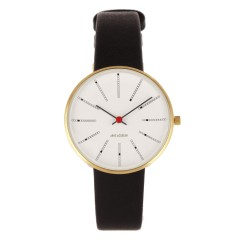 ARNE JACOBSEN BANKERS 34MM BLACK / GOLD