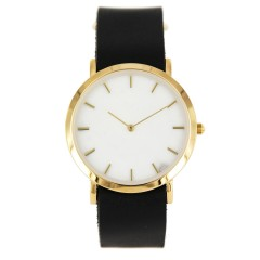 ANALOG WATCH CO CLASSIC WHITE MARBLE BLACK STRAP
