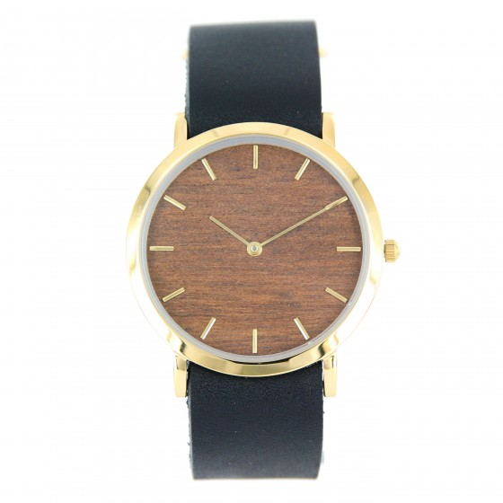 ANALOG WATCH CO. CLASSIC MAKORE WOOD NAVY STRAP